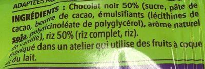 Galette de riz chocolat noir - Ingredienti - fr