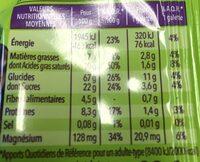 Galette de riz chocolat noir - Valori nutrizionali - fr