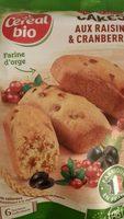 Cakes aux raisins et cranberries - Prodotto - fr