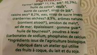 Cakes aux raisins et cranberries - Ingredienti - fr