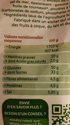 Cakes aux raisins et cranberries - Valori nutrizionali - fr