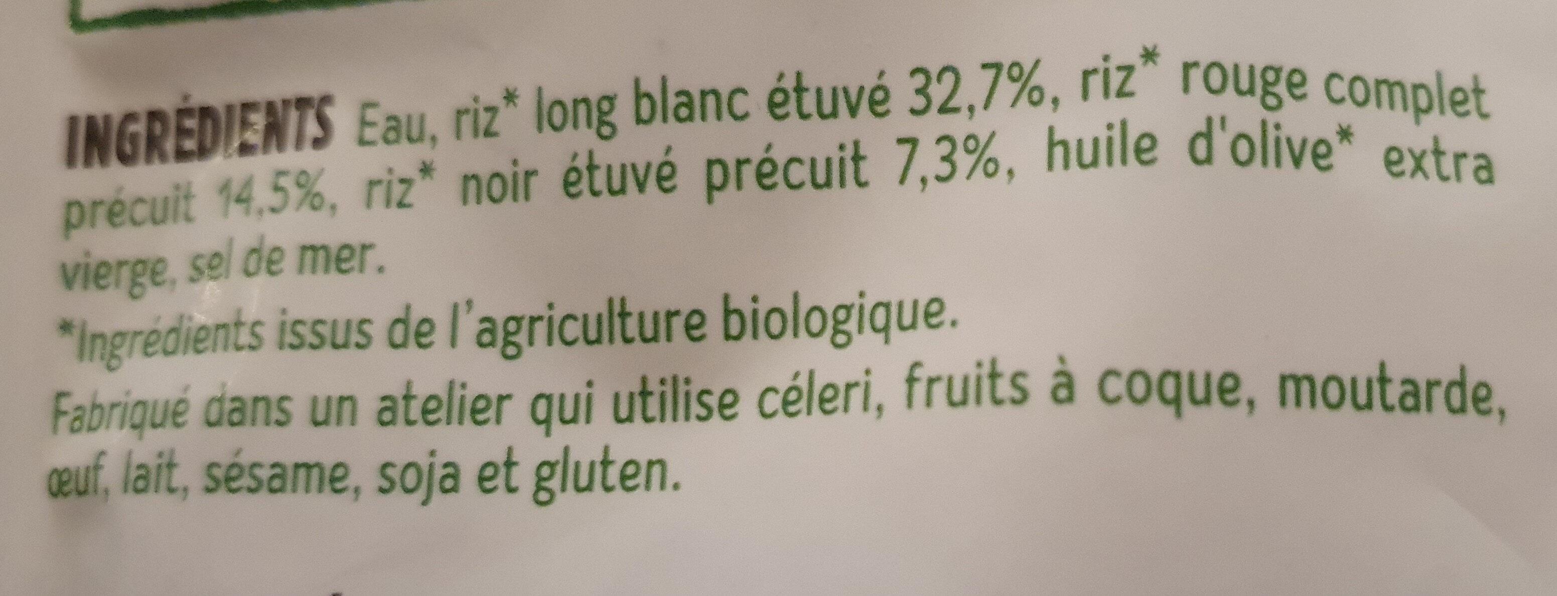 Trio de riz au naturel - Ingredienti - fr