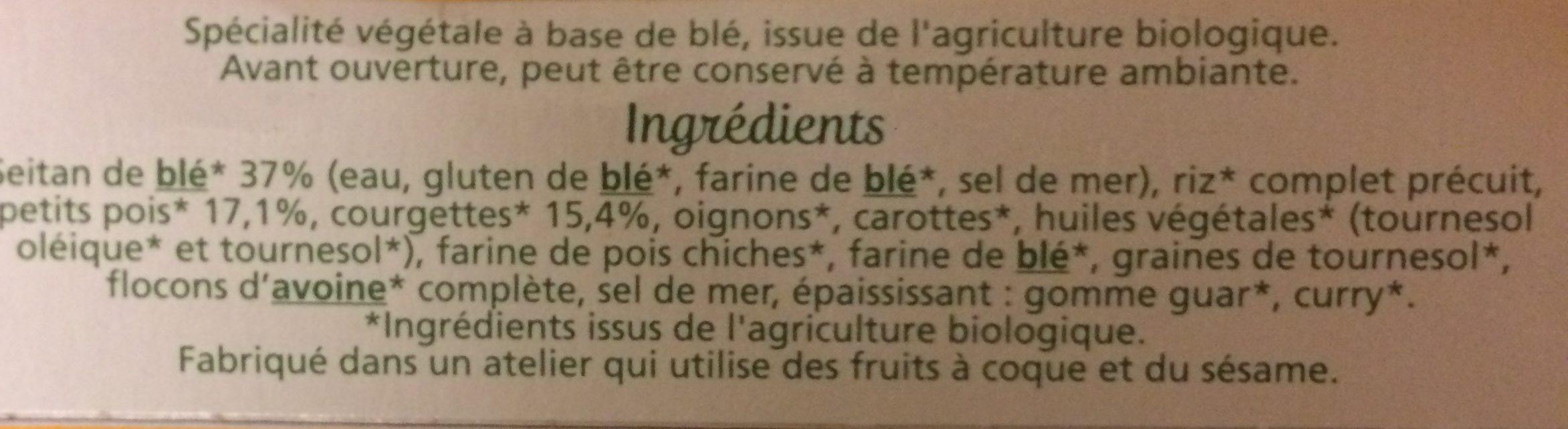 Tendres carrés de blé - Ingredients