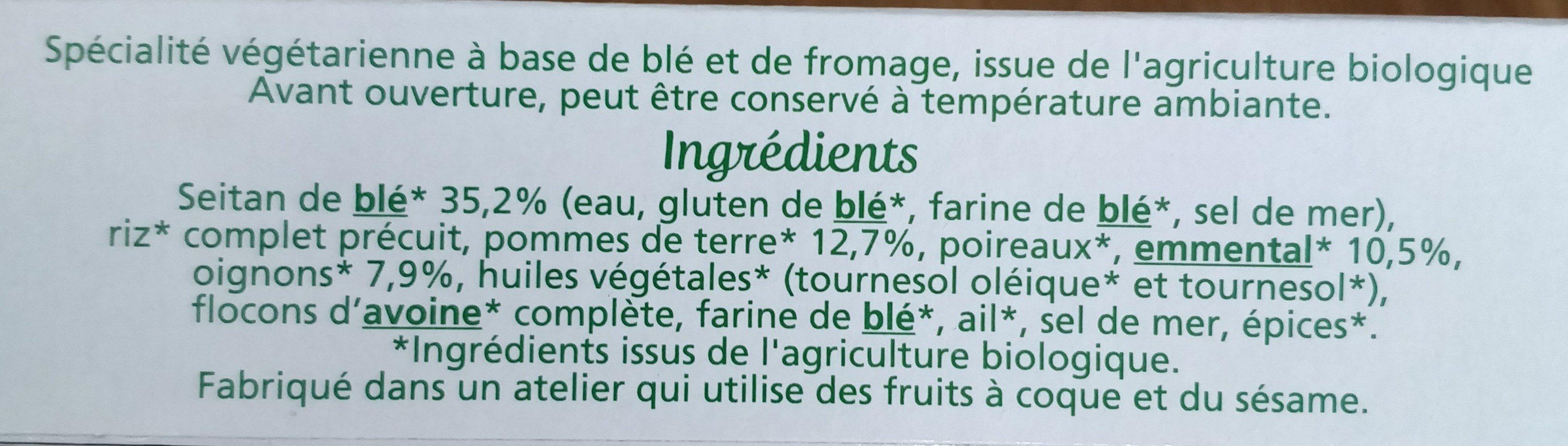 Tendres carrés de blé - Ingrediënten