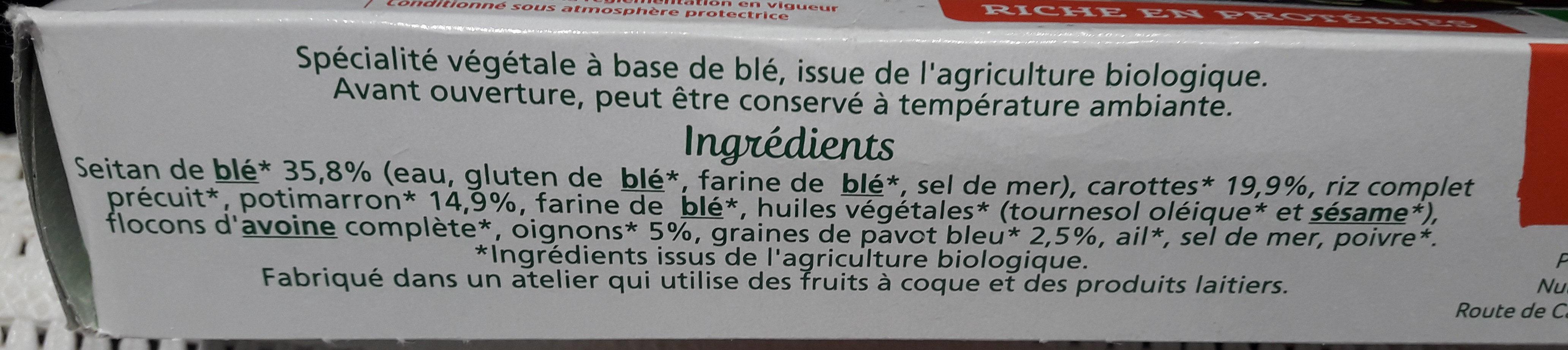 Tendre carrés de blé - Ingredients