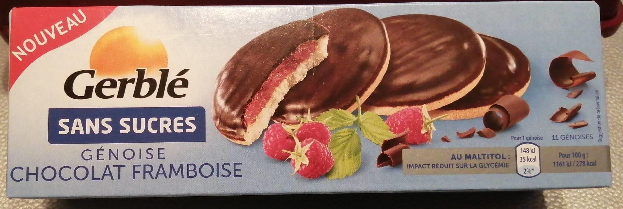 Gerblé sans sucres génoise chocolat framboise - Product - fr