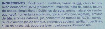 Gerblé sans sucres génoise chocolat framboise - Ingredients - fr
