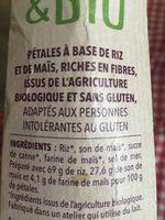 Gerblé & bio sans gluten - Ingrédients - fr
