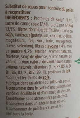 Milical Oryoki - Veggie Eco Recharge - Ingredients - fr