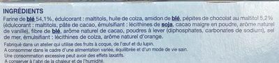 Sablé saveur orange pépites de chocolat - Ingrédients
