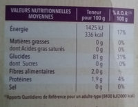 Farine patisserie - Nutrition facts - fr