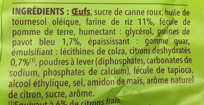Petits muffins citron pavot - Ingrédients - fr