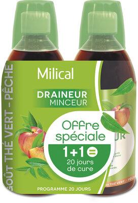 Milical - Draineur Thé Vert Pêche - Lot de 2 - Product