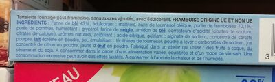 Tartelette saveur framboise - Ingredienti - fr