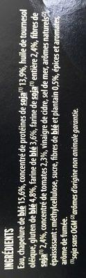Grill vegetal nuggets soja et blé - Ingrédients - fr