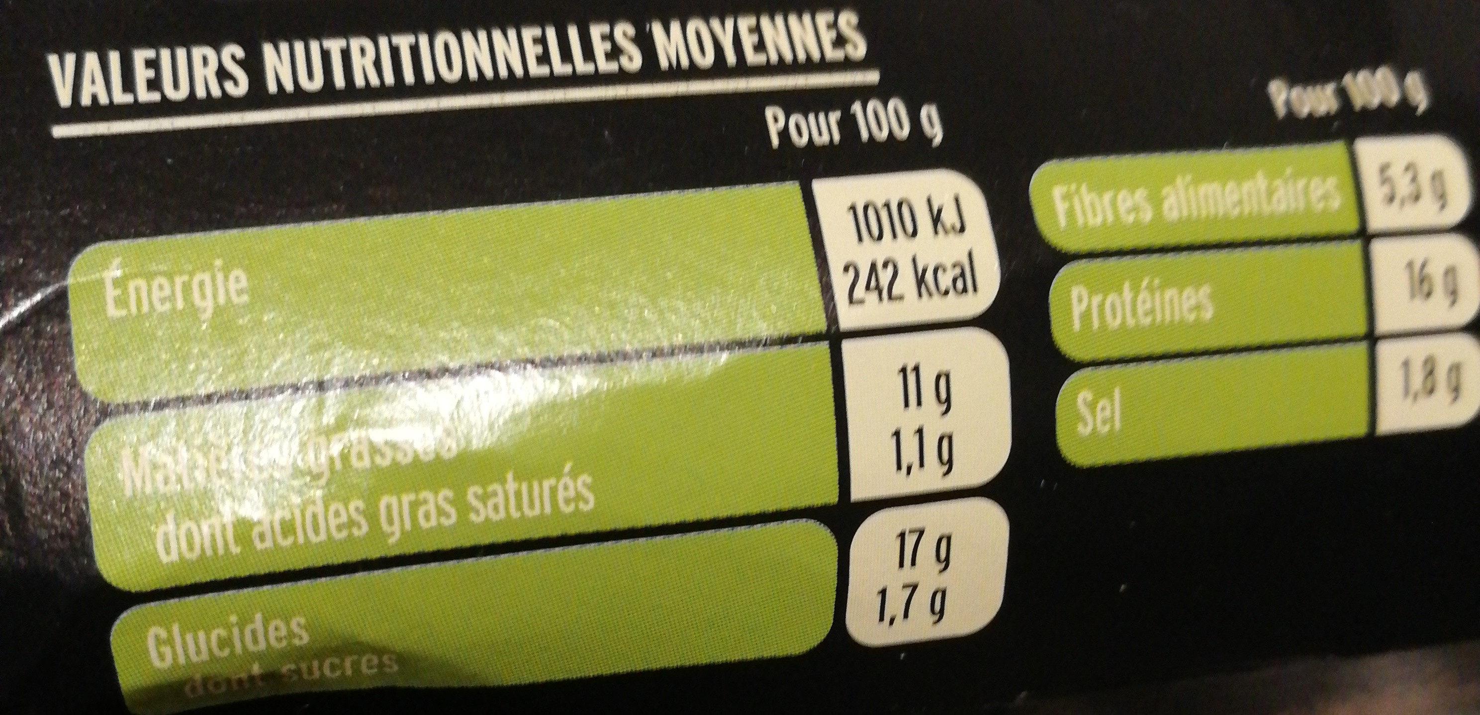 Grill vegetal nuggets soja et blé - Informations nutritionnelles - fr