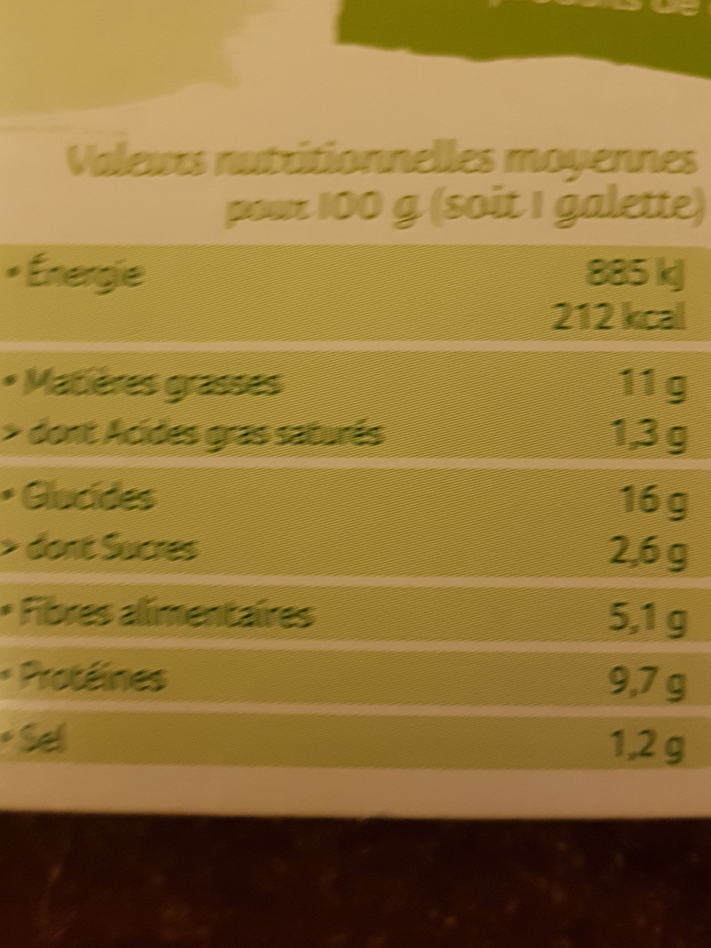 Pavé fondant olives et épices façon tajine - Informations nutritionnelles - fr