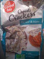 Crousti crackers riz noir et blanc - Product - fr