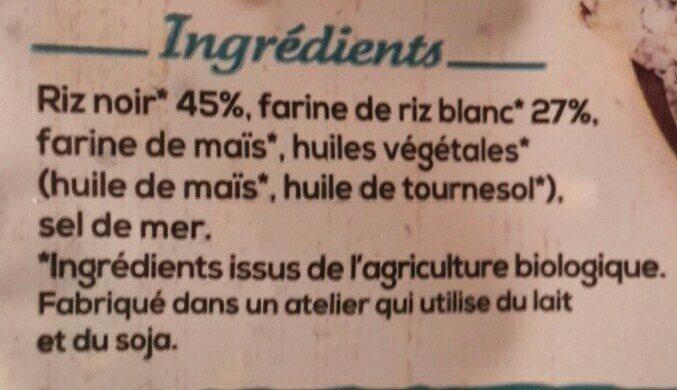 Crousti crackers riz noir et blanc - Ingrediënten - fr