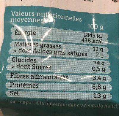 Crousti crackers riz noir et blanc - Voedingswaarden - fr