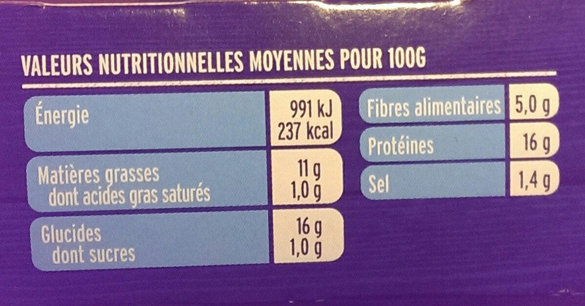 Bâtonnets soja & blé - Nutrition facts - fr