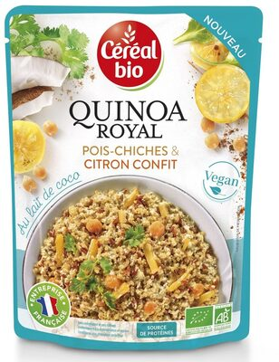 Quinoa royal pois-chiches & citron confit - Produit - fr