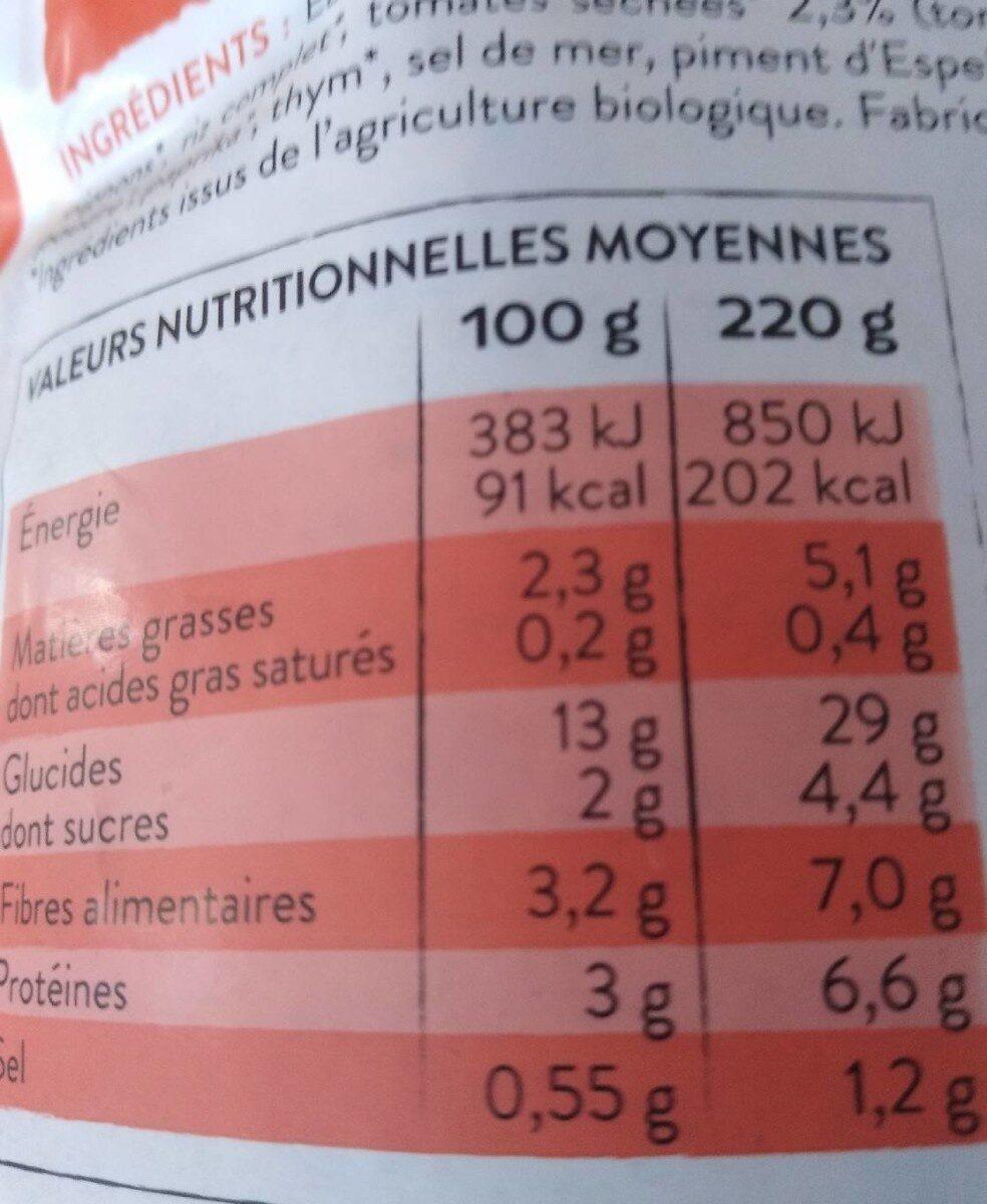 Quinoa royal - Informations nutritionnelles - fr
