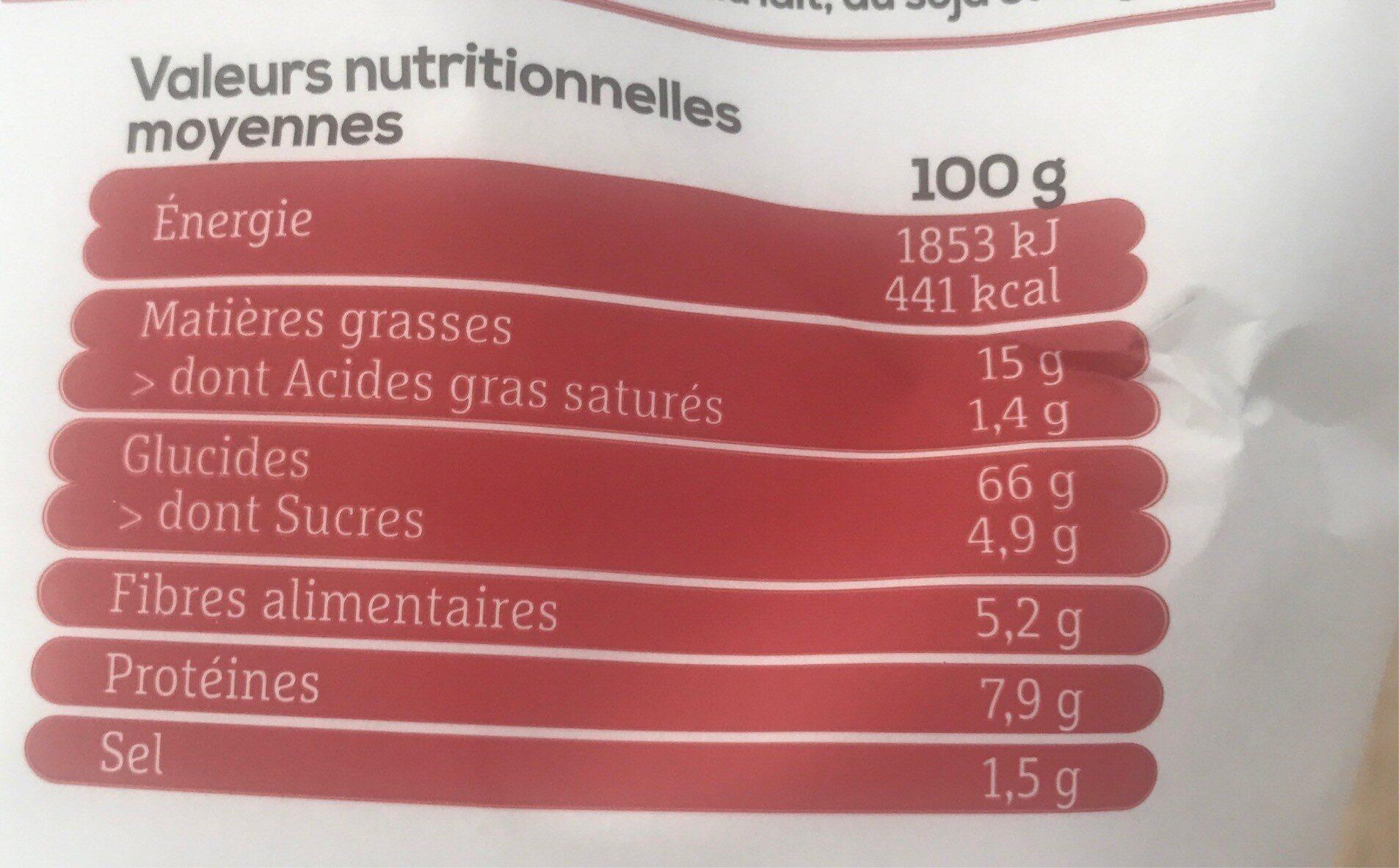 Les aperitifs quinoa chili doux - Valori nutrizionali - fr