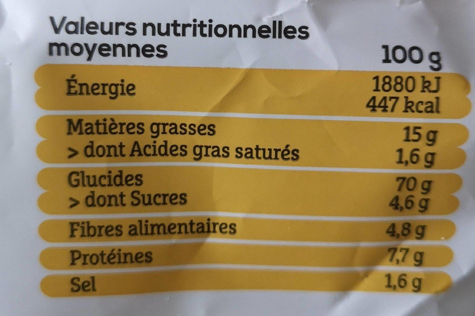 Les apéritifs Quinoa goût fromage - Voedingswaarden - fr
