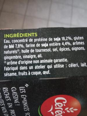 Émincés Soja et Blé - Ingredients - fr