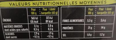 Émincés Soja et Blé - Informació nutricional - fr