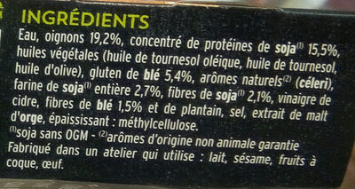 Grill végétal steak soja et blé - Ingredients - fr