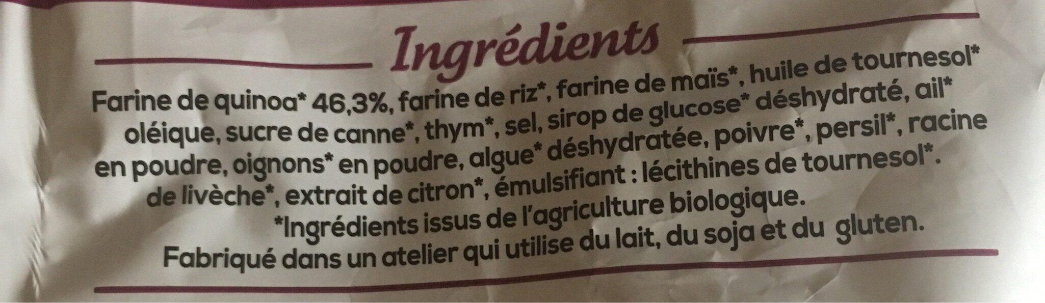 Chips ail & thym - Ingredienti - fr