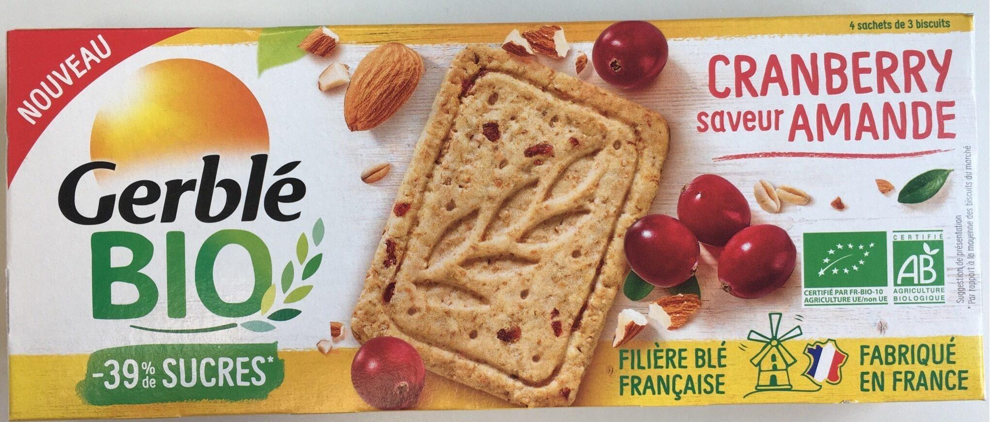 Gerblé bio cranberry saveur amande - Produit - fr