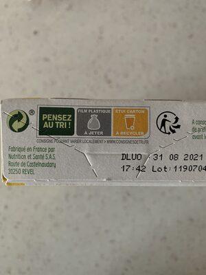 Gerblé bio cranberry saveur amande - Instruction de recyclage et/ou informations d'emballage - fr