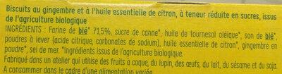Gingembre saveur citron - Ingrédients - fr