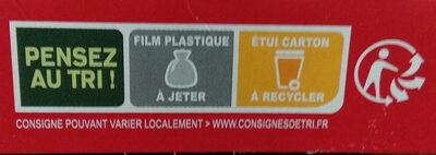 Coeur de burger - Texas BBQ - Instruction de recyclage et/ou informations d'emballage - fr