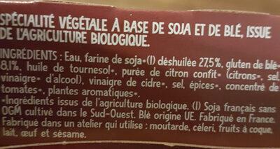 Émincés Soja et Blé - Ingredienti - fr