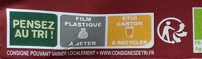 Émincés Soja et Blé - Istruzioni per il riciclaggio e/o informazioni sull'imballaggio - fr