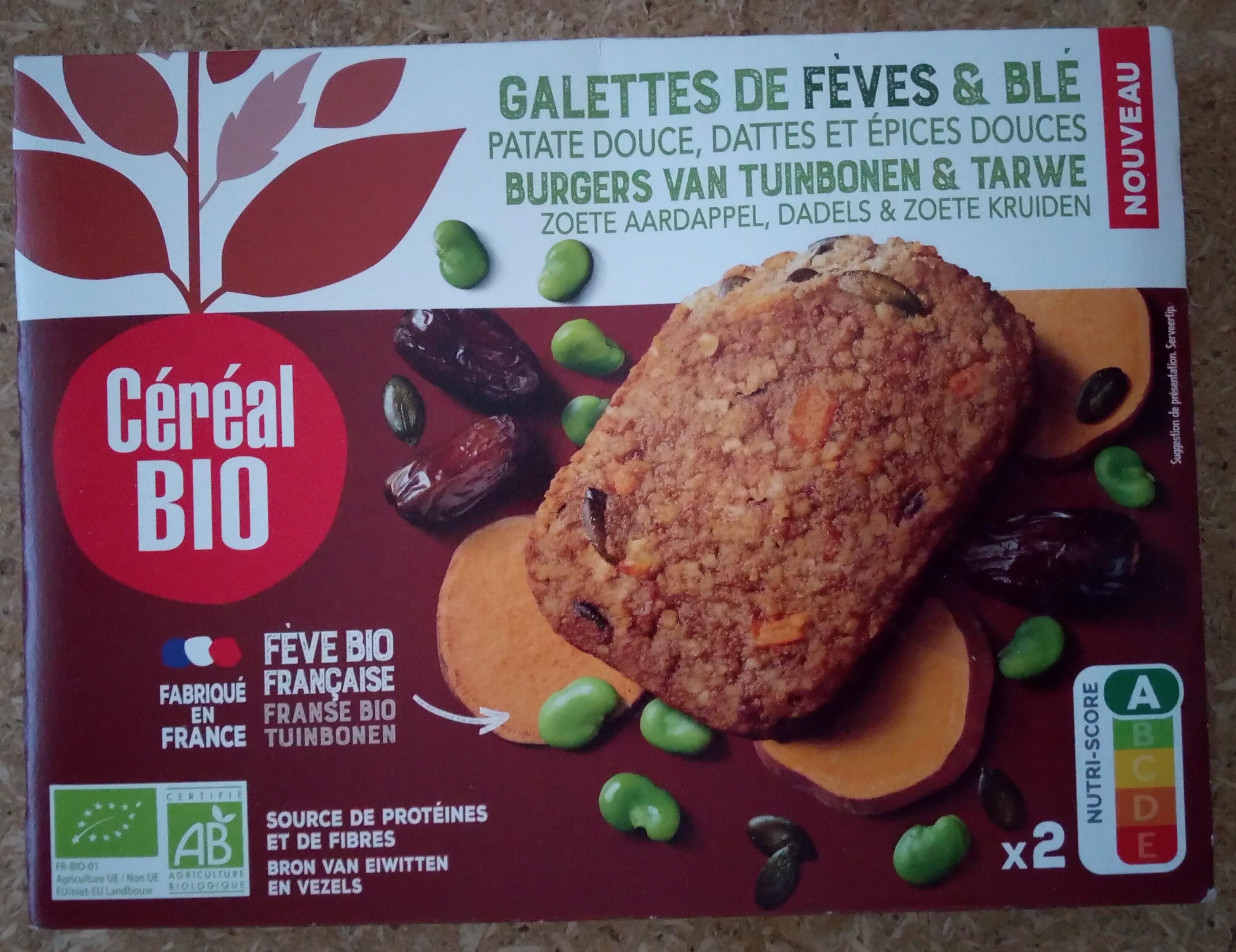 Galettes de fèves & blé patate douce, dattes et épices douces - Prodotto - fr