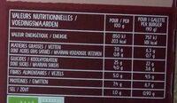 Galettes de fèves & blé patate douce, dattes et épices douces - Valori nutrizionali - fr
