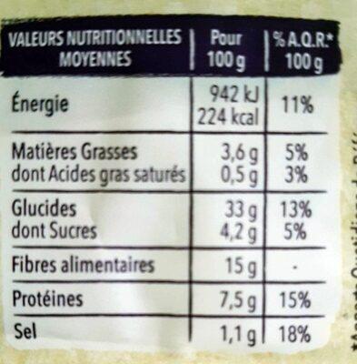 Pain complet au sarrasin - Informations nutritionnelles - fr
