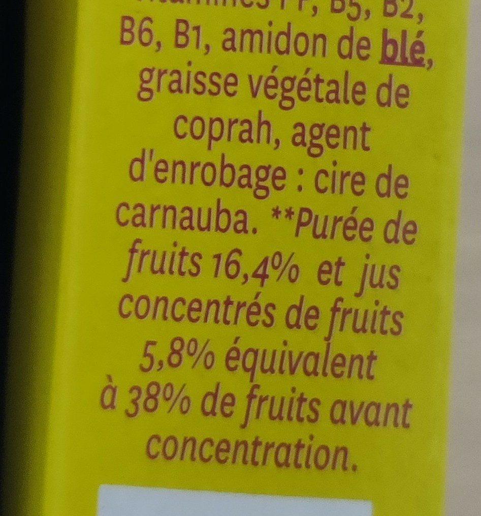 Pâtes de fruit - Ingrédients - fr
