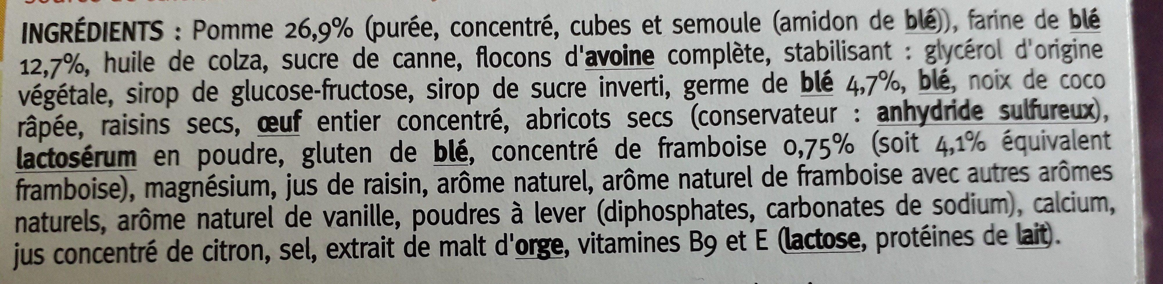 Moelleux Pomme Framboise - Ingrédients - fr