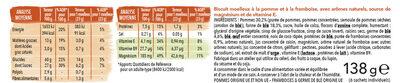 Moelleux Pomme Framboise - Informations nutritionnelles - fr
