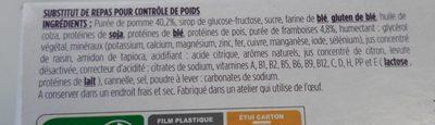 Barres Pomme Framboise avec arôme natutel - Ingrédients - fr