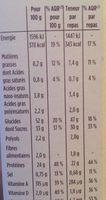 Barres Pomme Framboise avec arôme natutel - Informations nutritionnelles - fr