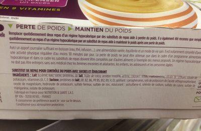 Mon repas minceur crème café - Ingredients - fr