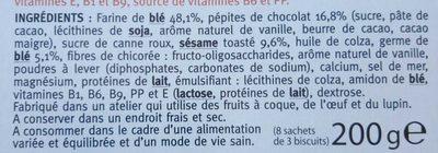 Biscuit Sésame chocolat - Ingrédients