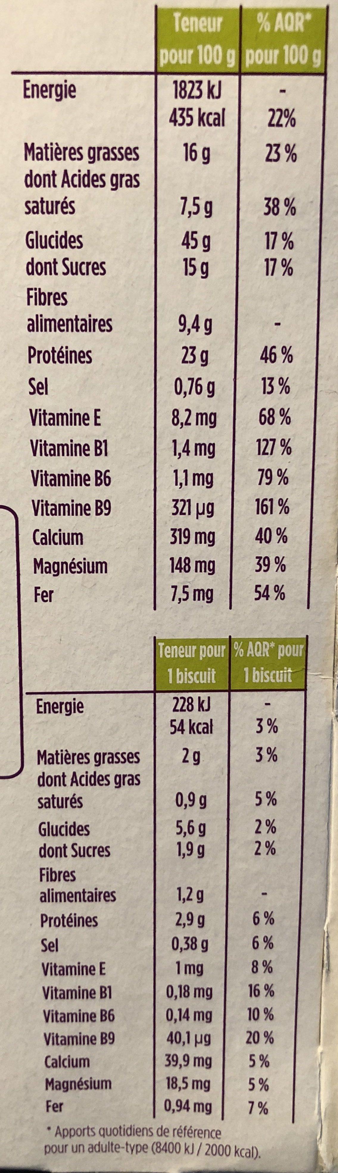 gerlinea chocolat céréales - Nutrition facts - fr